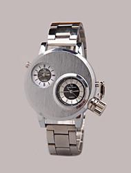 Недорогие -Муж. Наручные часы Кварцевый Черный / Серебристый металл Повседневные часы Аналоговый Кулоны - Черный Серебряный Коричневый