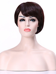 cheap -Synthetic Wig Straight Straight Wig Brown Synthetic Hair Women's Brown hairjoy