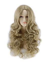 cheap -Cosplay Costume Wig Synthetic Wig Curly kinky Straight kinky straight Straight Asymmetrical Wig Blonde Long Strawberry Blonde Synthetic Hair Women's Natural Hairline Blonde