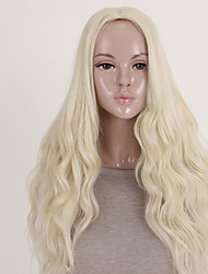 cheap -women s fashionable blonde color long length top quality synthetic wigs