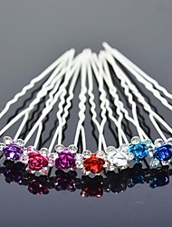 cheap -Alloy Headwear / Hair Pin with Floral 1pc Wedding / Special Occasion Headpiece