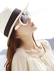 cheap -Women's Party Straw Sun Hat-Patchwork Spring Summer Fall White Beige Brown / Cute / Hat & Cap