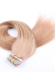cheap -Tape In Human Hair Extensions Straight Human Hair Strawberry Blonde