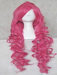 cheap -fashion cosplay wig pink synthetic hair woman s long wavy animated wigs cartoon wigs full wig Halloween