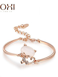 cheap -Women's Crystal Charm Bracelet Bracelet Bangles Cat Animal Ladies Unique Design Fashion Crystal Bracelet Jewelry Rose Gold For Wedding Party Daily