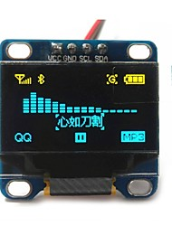 "cheap -0.96"" Inch Yellow and Blue I2c IIC Serial 128x64 Oled LCD Oled LED Module for Arduino Display 51 Msp420 Stim32 SCR"