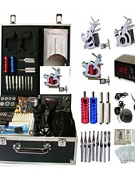 cheap -BaseKey Professional Tattoo Kit Tattoo Machine - 3 pcs Tattoo Machines, Professional Alloy 20 W LCD power supply 3 steel machine liner & shader / Case Included