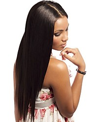 cheap -Human Hair Glueless Full Lace Glueless Lace Front Full Lace Wig style Brazilian Hair Straight Natural Black Wig 130% 150% Density with Baby Hair Natural Hairline African American Wig 100% Hand Tied