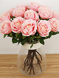 cheap -Artificial Flowers 1 Branch European Style Roses Tabletop Flower