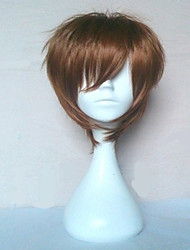 cheap -Cosplay Costume Wig Synthetic Wig Straight Straight Wig Brown Synthetic Hair Brown