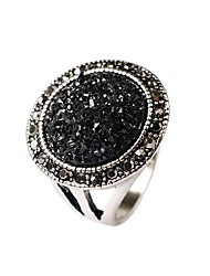 cheap -Women's Statement Ring Black Screen Color Gold Plated Ladies Fashion Druzy Party Jewelry