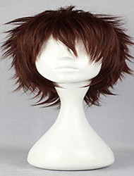 cheap -popular cosplay wig natural wigs man s wigs dark brown short curly animated synthetic hair wigs freeshipping Halloween