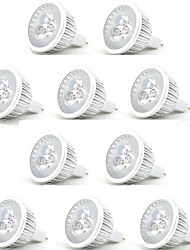cheap -HRY 10pcs 3 W LED Spotlight 250 lm MR16 3 LED Beads High Power LED Decorative Warm White Cold White 12 V / RoHS