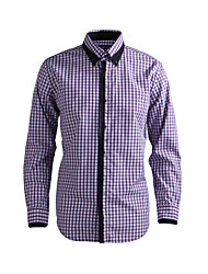 cheap -Men's Chic & Modern Shirt - Solid Colored Purple / Long Sleeve