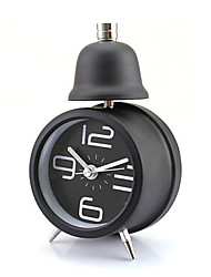 cheap -Metal Single Bell Retro Alarm Clock Desktop Table Modern Time Display (Random Color)