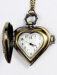 cheap -Men's Pocket Watch Quartz Silver / Yellow Hollow Engraving Analog Charm