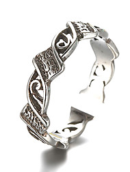 cheap -Unisex Band Ring Adjustable Ring thumb ring Silver Sterling Silver Silver Unusual Unique Design Vintage Daily Casual Jewelry