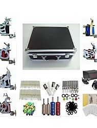 cheap -BaseKey Professional Tattoo Kit Tattoo Machine - 6 pcs Tattoo Machines, Professional Alloy 20 W LCD power supply 6 steel machine liner & shader / Case Included