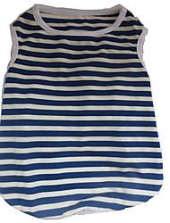 cheap -Dog Shirt / T-Shirt Dog Clothes White / Red White / Blue Costume Cotton Stripes Heart Cute XS S M L