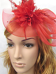 cheap -Flax / Feather / Net Headbands / Fascinators with 1 Wedding / Horse Race Headpiece