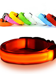 cheap -Cat Dog Necklace Dog Clothes White Orange Yellow Costume Nylon Solid Colored LED S M L XL