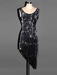 cheap -Latin Dance Dresses Women's Performance Spandex Draping Dress