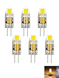 cheap -6 pcs G4 2W 1LED Dimmable Corn Light AC12VDC12V White  Warm White