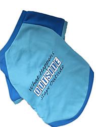 cheap -Dog Shirt / T-Shirt Dog Clothes Blue Costume Nylon Letter & Number Fashion XS S M L
