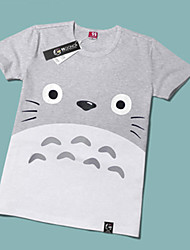 cheap -Inspired by My Neighbor Totoro Cat Anime Cosplay Costumes Japanese Cosplay T-shirt Print Short Sleeve T-shirt For Men's / Women's