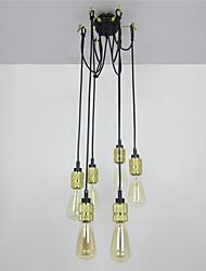 cheap -CXYlight 6-Light Pendant Light Ambient Light Painted Finishes Metal Mini Style 110-120V / 220-240V Bulb Not Included / E26 / E27