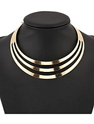 cheap -Women's Pearl Choker Necklace Statement Necklace Layered Bib Ladies European Fashion Multi Layer Alloy Gold Silver Necklace Jewelry For Party Special Occasion Birthday Gift