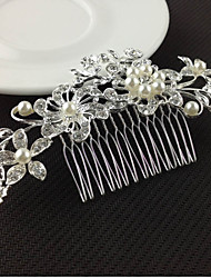 cheap -Women's Hair Combs For Wedding Party Crystal Imitation Pearl Imitation Diamond Silver