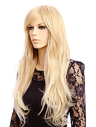 cheap -Synthetic Wig Curly Natural Wave Natural Wave Asymmetrical Wig Blonde Long Blonde Synthetic Hair Women's Party Blonde