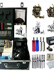 cheap -BaseKey Professional Tattoo Kit Tattoo Machine - 4 pcs Tattoo Machines Analog power supply 2 steel machine liner & shader / 2 alloy machine liner & shader / Case Included