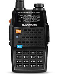 Недорогие -BAOFENG UV-5R 4TH Для ношения в руке / Цифровой Голосовые подсказки / Двойной диапазон / Двойной дисплей 1,5 - 3 км 1,5 - 3 км 128 2800mAh 5/1 W Walkie Talkie Двухстороннее радио