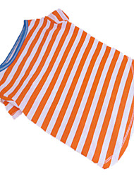 cheap -Dog Shirt / T-Shirt Stripes Dog Clothes Puppy Clothes Dog Outfits Orange / White White / Green Dark Blue Costume for Girl and Boy Dog Cotton XXS XS S M L