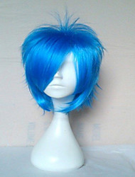 cheap -Cosplay Costume Wig Synthetic Wig Straight Straight Wig Short Blue Synthetic Hair Women's Blue hairjoy