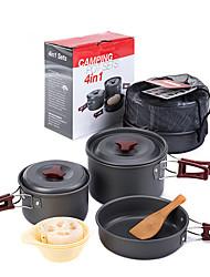 Недорогие -Набор посуды наборы за 2 - 3 человека Алюминиевый сплав на открытом воздухе