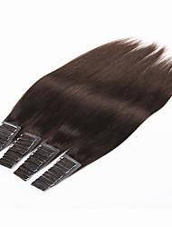 cheap -PANSY Tape In Human Hair Extensions Straight Human Hair Brazilian Hair