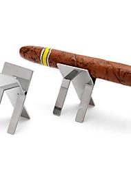 Недорогие -сталь складной держатель из нержавеющей сигарет стенд показывая портативный сигары пепельницу