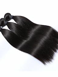 cheap -3 Bundles Peruvian Hair Straight Natural Color Hair Weaves / Hair Bulk Human Hair Weaves Human Hair Extensions / 8A