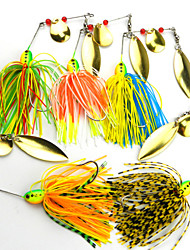 cheap -5 pcs Fishing Lures Spoons Metal Bait Sinking Bass Trout Pike Bait Casting Plastic Metal