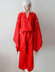 cheap -Inspired by InuYasha Inu Yasha Anime Cosplay Costumes Japanese Cosplay Suits / Kimono Solid Colored Long Sleeve Top / Pants / Belt For Men's / Women's