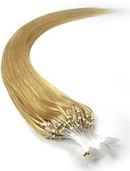 cheap -PANSY Micro Ring Hair Extensions Human Hair Extensions Straight Remy Human Hair Human Hair Brazilian Hair Burgundy