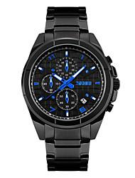 Недорогие -Муж. Наручные часы Кварцевый Нержавеющая сталь Черный 30 m Защита от влаги Календарь Аналоговый Белый Черный