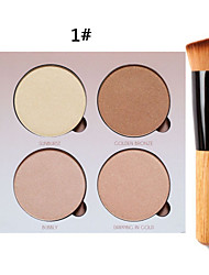 cheap -4 Colors Eyeshadow Palette Powders Eye Matte Shimmer Glitter Shine smoky Coloured gloss Uneven Skin Tone Dark Circle Treatment Daily Makeup Cosmetic Gift