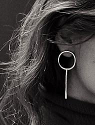 cheap -Women's Stud Earrings Hoop Earrings Ladies European Simple Style Earrings Jewelry Silver / Golden For Party Daily Casual