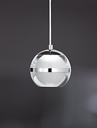 cheap -UMEI™ Globe Pendant Light Ambient Light Chrome Metal Acrylic LED 110-120V / 220-240V Warm White / Cold White LED Light Source Included / LED Integrated / FCC