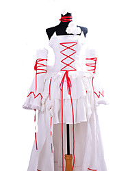 cheap -Inspired by Pandora Hearts Alice Anime Cosplay Costumes Japanese Cosplay Suits Solid Colored Sleeveless Dress Sleeves Necklace For Women's / Satin