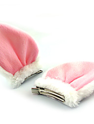 cheap -Bunny Girl Princess Women's Cute Lolita Jewelry Headpiece Hair Clip White Black Patchwork Polar Fleece Lolita Accessories
